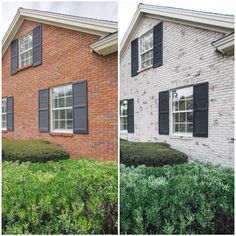 How to Limewash a Brick House in Two Days by Artistic Finishes of North Florida. Photos: Cristina Danielle Photography #diy #limewash #diylimewash #diybricklimewash #bricklimewash