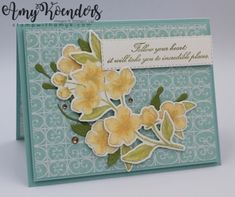 I used the Stampin' Up! Forever Blossoms stamp set bundle from the upcoming January-June 2020 Mini Catalog to create a card to share with you today. I did a video tutorial for making this card on … New Jersey, Some Cards, Flower Images, Flower Cards, Stampin Up Cards, Making Ideas, Cardmaking, Birthday Cards, Happy Birthday