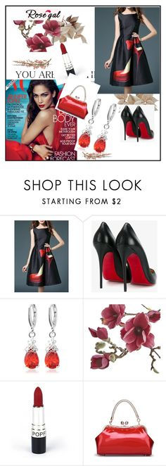 """""""Rosegal 19"""" by dilruha ❤ liked on Polyvore featuring Christian Louboutin and Crate and Barrel"""
