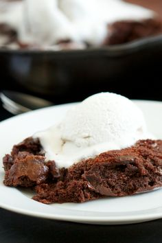 Chocolate Fudge Skillet Cake: decreased maple syrup to half a cup, added two and a half teaspoons of ground French Roast coffee set at espresso grind, try beating eggs ahead of time so there's no chance of scrambling. Definitely take off the heat and let cool a little before adding the eggs.