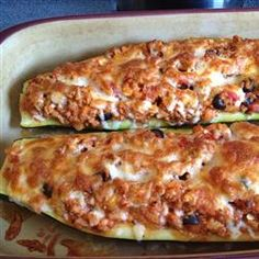 Stuffed zucchini with ground beef marinara - leave out the bread crumbs (not really needed) for a carb free entree.