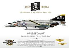 US Navy F-4N Phantom II (VF-88) Jolly Rogers