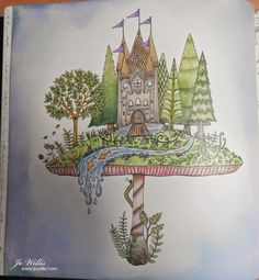 ENCHANTED FOREST By Brunelli Pens And Pencils Used Faber