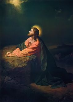 Christ in the Garden of Gethsemane by Heinrich Hoffman (at Riverside Church, NY)