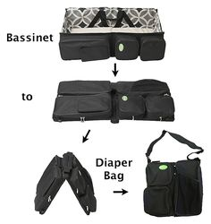 QuickSmart brand diaper bag that converts to a travel bassinet...never seen anything like this!!