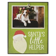 """Santa's Little Helper"" 4"" x 6"" Christmas Photo Clip Wall Frame"