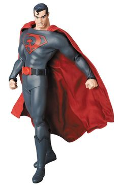 This DC Superman Red Son Real Action Heroes Scale Figure is based on DC Comics' 2003 Superman: Red Son by Mark Millar and Dave Johnson. Superman Red Son, Toys R Us Kids, Dc Comics Action Figures, Anime Toon, Man Anatomy, Real Hero, Star Wars Toys, Clark Kent, Poses