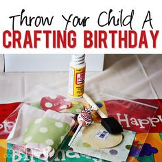 Host a crafting birthday party! Great ideas for a tween party that any girl would love! I know a little girl that would love this.