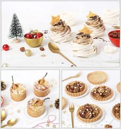 25 recettes de Noël - Gourmandise - Petits Béguins Desserts With Biscuits, Bon Dessert, Christmas And New Year, New Years Eve, Hamburger, Place Card Holders, Sweets, Cooking, Cake