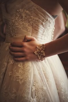 Vintage beaded lace bracelet by the Lucky Sixpence  Photo credit: Griffin Photography