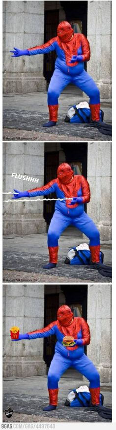 Spider man, Spider man, eats whatever a spider can ♫