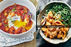 Work with what you've got. Cooking Recipes, Healthy Recipes, Bean Recipes, Quick Recipes, Spicy Tuna Roll, Creamy Pasta, Roasted Sweet Potatoes, Pasta Dishes, Tasty