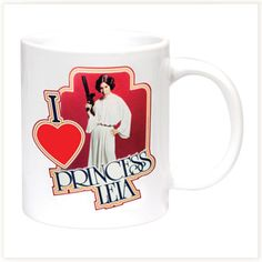 Mug I Love Princesse Leia Star Wars #leia #mug #starwars