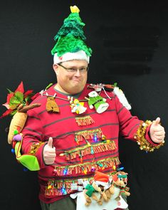 todaysinfo The 25 Absolute Best Ugly Christmas Sweaters You've Never Seen Before. Ode to the Ugly Christmas Sweater The holiday season is upon us, which means one thing: Ugly Christmas Sweater parties. Ugliest Christmas Sweater Ever, Diy Ugly Christmas Sweater, Ugly Sweater Party, Holiday Sweaters, Tacky Sweaters, Wool Sweaters, Tacky Christmas Party, Last Minute Christmas Gifts, Christmas Costumes