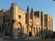 Front of Pope's Palace in Avignon.