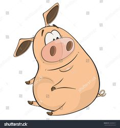 A cute pig farm animal cartoon