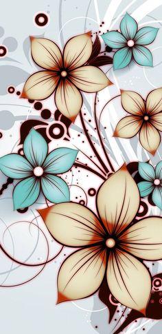 flowers wallpaper by dathys - 48 - Free on ZEDGE™ Flowery Wallpaper, Flower Phone Wallpaper, Butterfly Wallpaper, Cellphone Wallpaper, Colorful Wallpaper, Iphone Wallpaper, Flower Backgrounds, Wallpaper Backgrounds, Tumblr Wallpaper