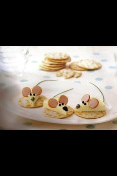 mouse cheese snacks! too cute!