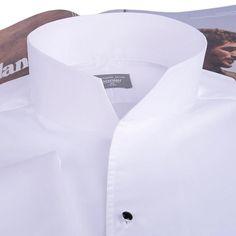 Men's  Fashion Tuxedo Shirt,French cufflinks banquet, long-sleeve shirt classic stand collar 100% cotton High Quality Gurantee