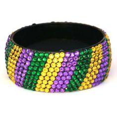 Rhinestone Bangle Bracelets | Mardi Gras Rhinestone Bracelet