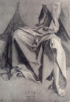 Albrecht Durer, Study for drapery, 1508