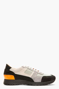 ROBERT GELLER Grey Panelled Robert Geller Edition Sneakers