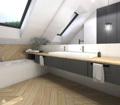 Upstairs Bathrooms, Hearth And Home, Double Vanity, Sweet Home, Loft, Malaga, House Design, Mirror, The Originals