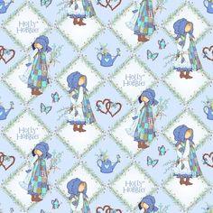 Spectrix - Holly Hobbie Girl Diamonds Blue - cotton fabric