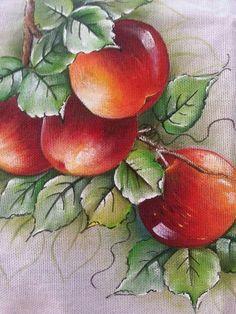 Fruit Painting, China Painting, Fabric Painting, Fabric Paint Designs, Acrylic Painting Techniques, Fruit Art, Fish Art, Painting Patterns, Beautiful Paintings