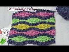 Tunisian Crochet Blanket, Tunisian Crochet Patterns, Crochet Shawl, Knitting Videos, Crochet Videos, Crochet Symbols, Purl Stitch, Crochet Projects, Tiger Cubs