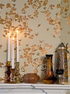 """Honeybee Wallpaper Design date 1881 Trimmed width: 20 1/2"""" Repeat: 24"""" drop match Roll size: 6 yards long,  covering approximately 35 sq. ft..."""