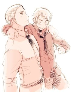 """""""Hetalia"""" ~ Germany and Prussia. I haven't actually seen him in the show, but still find him to be an interesting character."""