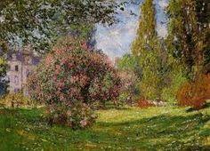 Una de las pinturas de Monet sobre el parque