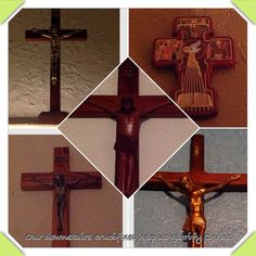 We have crucifixes in every room in our home to help us #glorify God.#cslentipj #day19 #lent #catholic
