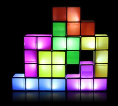 Tetris Lamp - Word is that each piece lights up as you stack it on top of the other, though it's not clear if there is only one configuration.