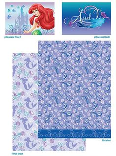 "Amazon.com: Disney Princess Little Mermaid Ariel "" Swimming Beauty "" Twin Sheet Set 3 Piece Sheets: Bedding & Bath"
