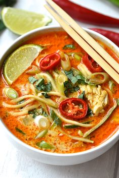 Frugal Food Items - How To Prepare Dinner And Luxuriate In Delightful Meals Without Having Shelling Out A Fortune Soup Recipes Thai Curry Noodle Soup Tulul Healthy Soup Recipes, Healthy Meal Prep, Noodle Recipes, Healthy Food, Healthy Salads, Thai Curry Soup, Thai Curry Recipes, Coconut Curry Soup, Thai Food Recipes