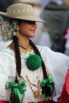 The Pollera is the national dress of Panama and we saw many women during carnival in their beautiful costumes