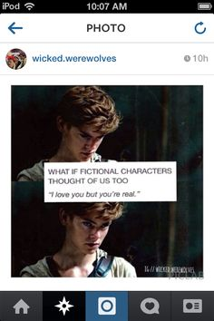 The best part (for me), it's Newt. I love him more than any other boy in every book I've read. I would start crying if he said that to me.<<<<<<<He comes after all TMI and TID boys (including Sebastian)
