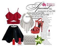 """""""Red Riding Hood"""" by samantha-hbtq ❤ liked on Polyvore featuring Whiting & Davis, Yves Saint Laurent, Estée Lauder, Givenchy, Sexy, redlips, happycolours and happinessbtq"""
