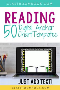 Get your 50 reading themed digital anchor chart templates today! This resource is designed to help you create digital and printable anchor charts for your reading instruction in minutes - just add text! A total of 50 prepared digital anchor chart slides with a different background using reading clip art. A how-to video tutorial is provided to help you get started! A perfect elementary reading resource for in-person or distance learning all year long.