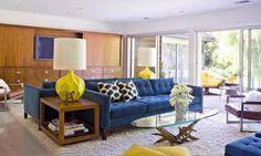 Resultado de imagem para sofa azul chumbo