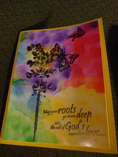 Alcohol Ink Background Paper I Made And Scripture May Your Roots Go Down  Deep In Godu0027s