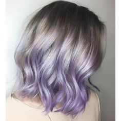 This pastel purple style would look even better with roots fading into the color.