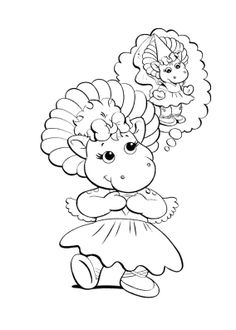 Simple Barney Coloring Book 77 Barney Girl Coloring Page