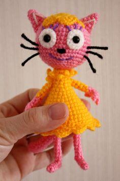Вяжем крючком очаровательного котенка Лапочку из мультфильма «Три кота» - Ярмарка Мастеров - ручная работа, handmade
