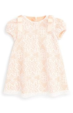 Free shipping and returns on Luli & Me Lace Dress (Baby Girls) at Nordstrom.com. Satin bows shine at the shoulders of an irresistible vintage-inspired shift dress fashioned with a dainty lace overlay.