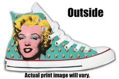 Marilyn Monroe Custom Converse All Stars by ArkhamPrints on Etsy