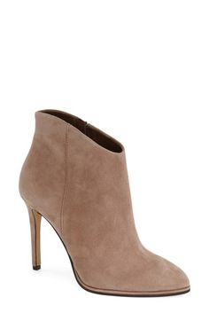 Free shipping and returns on Vince Camuto 'Lorenza' Pointy Toe Bootie (Women) at Nordstrom.com. A pointy toe visually elongates your leg in a sleek, shapely bootie cast in lush suede or genuine calf-hair.