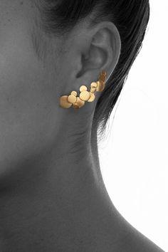 konfetti earrings - gold Maria Black